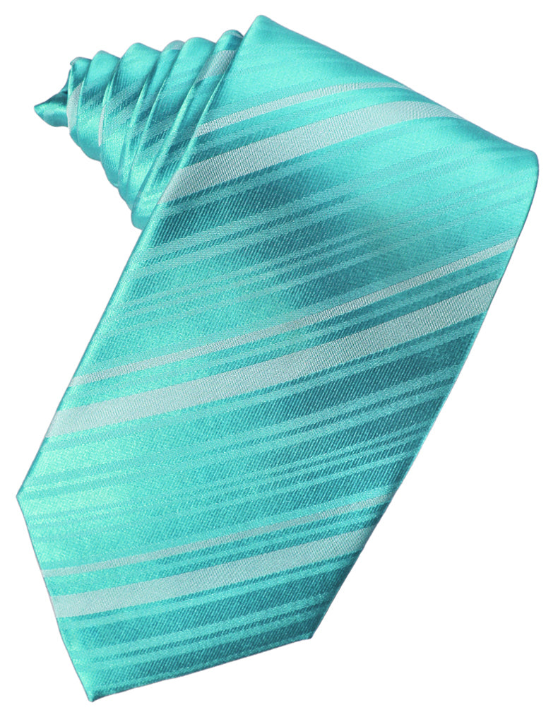 Pool Striped Silk Necktie