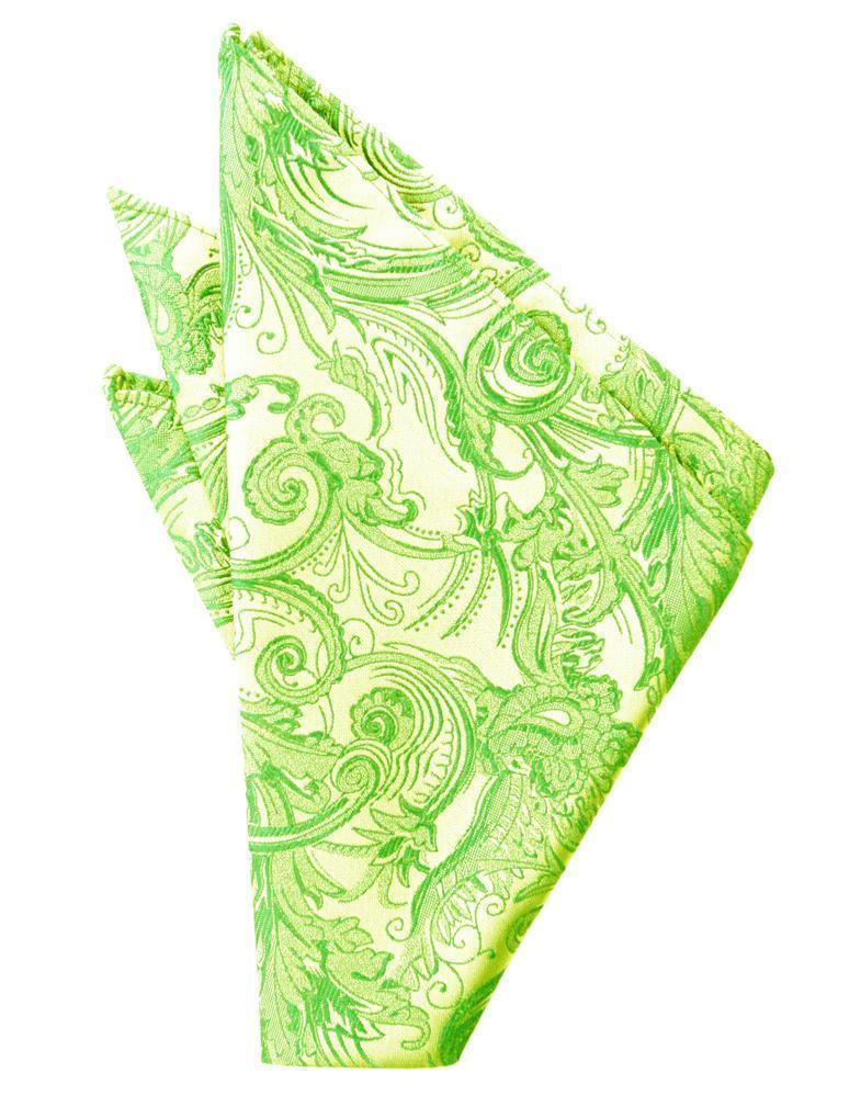 Lime Tapestry Pocket Square
