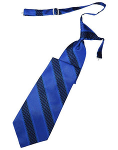 Royal Blue Venetian Stripe Necktie