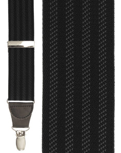"""Black Four Stripe"" Suspenders"