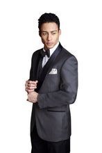 """Bradford"" Steel Grey Tuxedo Jacket (Separates)"