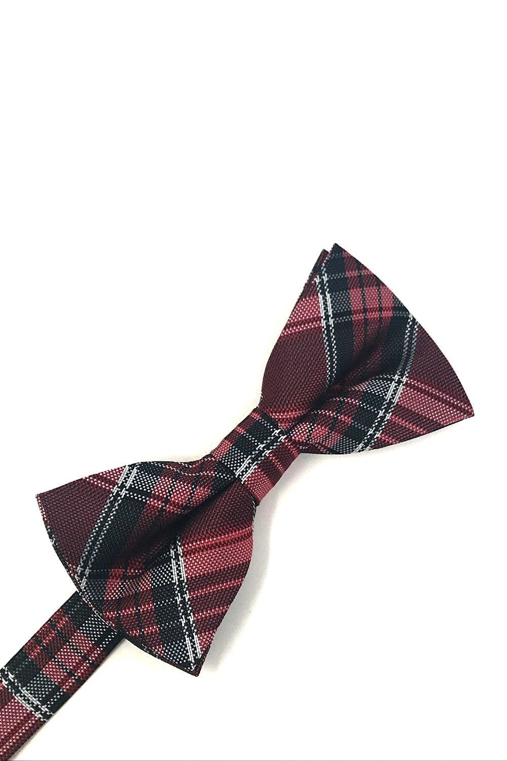 Red Madison Plaid Bow Tie