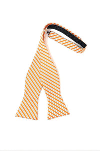 Orange Newton Stripe Bow Tie