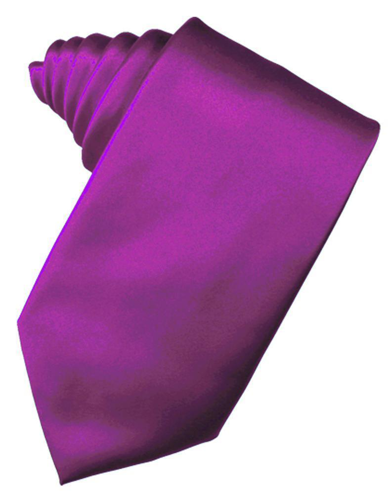 Cassis Luxury Satin Necktie