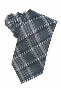 Grey Madison Plaid Necktie