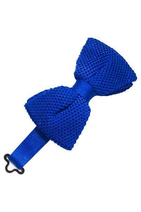 Royal Blue Silk Knit Bow Tie