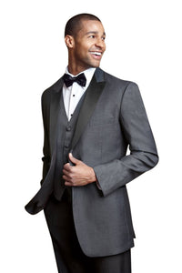 """Fitzgerald"" Steel Grey Tuxedo Jacket (Separates)"
