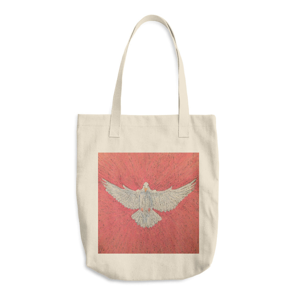 white dove tote bag peace begins with me