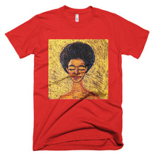 the crown afro woman tee shirt