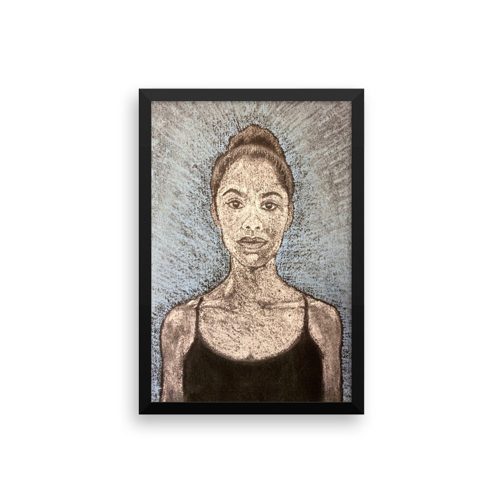 misty copeland chalk portrait