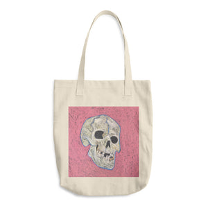 laughing skeleton skull tote bag now or never