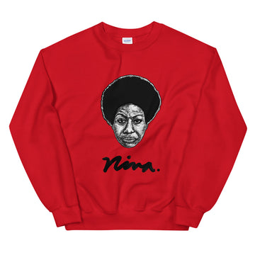 Red Nina Simone Sweatshirt