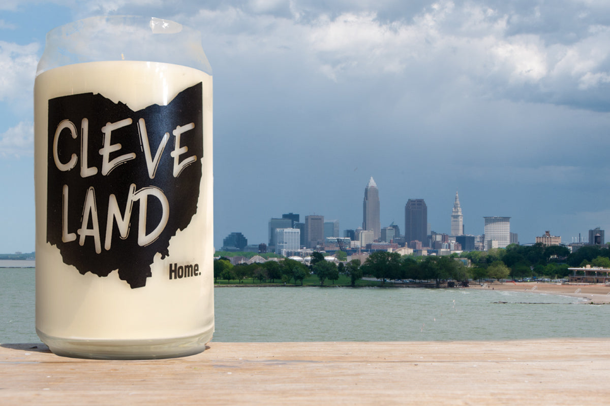 16oz Cleveland Glassware Candle - Home