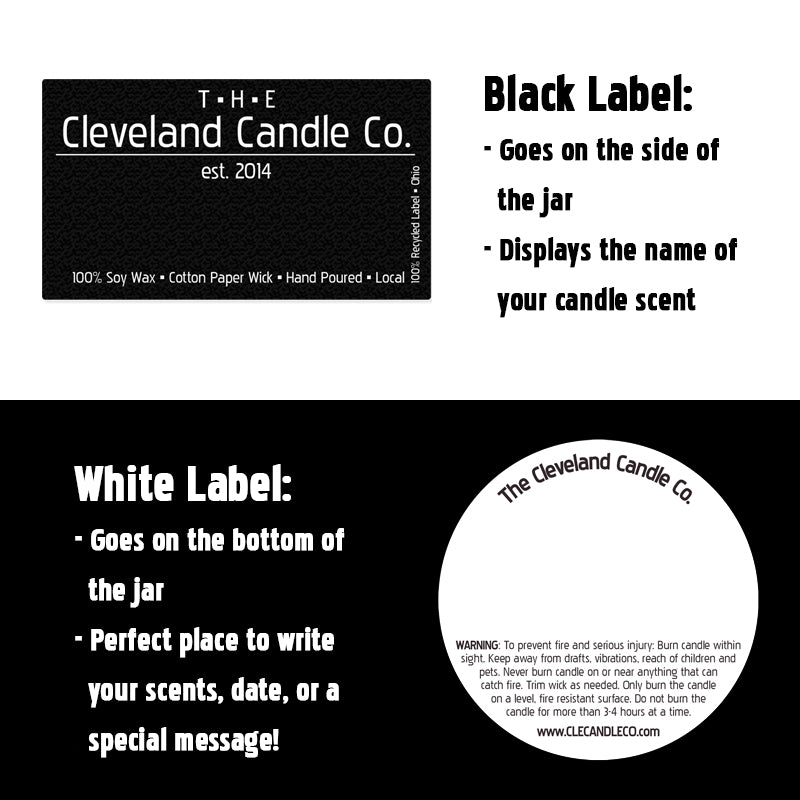 16oz B&W CLE Home Glassware Custom