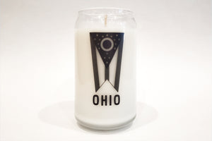 16oz Cleveland Glassware Candle - Ohio Flag
