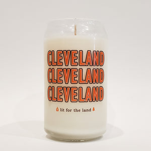 16oz CLE Football Glassware Custom