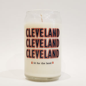 16oz CLE Baseball Glassware Custom