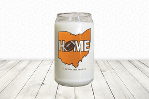 16oz Cleveland Glassware Candle - Football