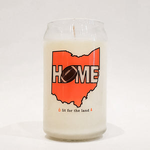 16oz Home Football Glassware Custom