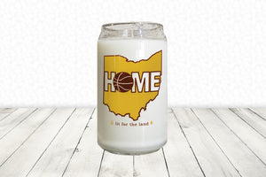 16oz Cleveland Glassware Candle - Basketball