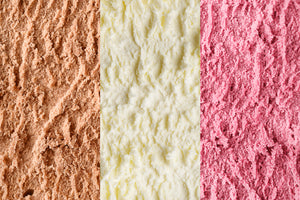 Neapolitan Ice Cream - Paper Sample Swatch