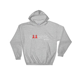 Red Awareness Ribbon Hooded Sweatshirt