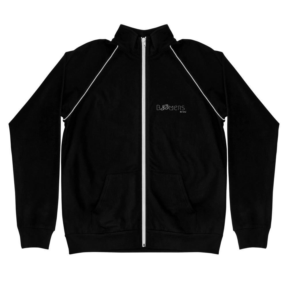 Music Note Piped Fleece Jacket