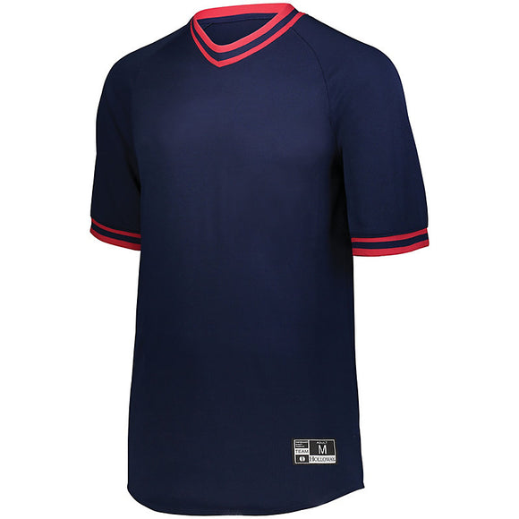 BBJ-10 Holloway Youth Retro V-Neck Baseball Jersey