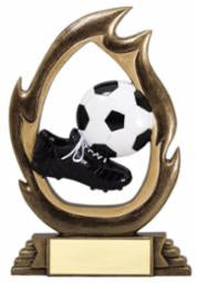 SC-23  Resin Flame Series Soccer