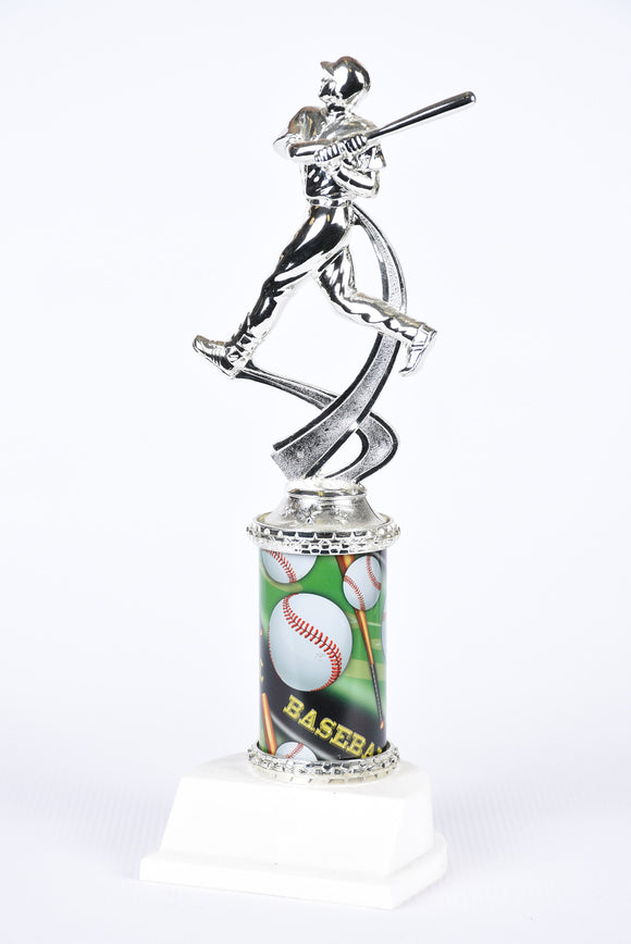 BB-42 Motion Column Baseball Trophy