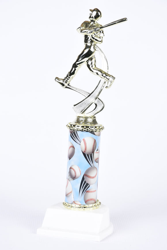 BB-41 Motion Column Baseball Trophy
