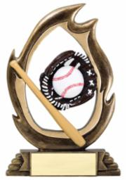 BB-6 Flame Series Baseball Trophy
