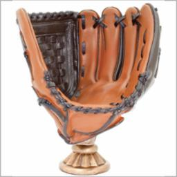 BB-33 RESIN BASEBALL GLOVE LARGE