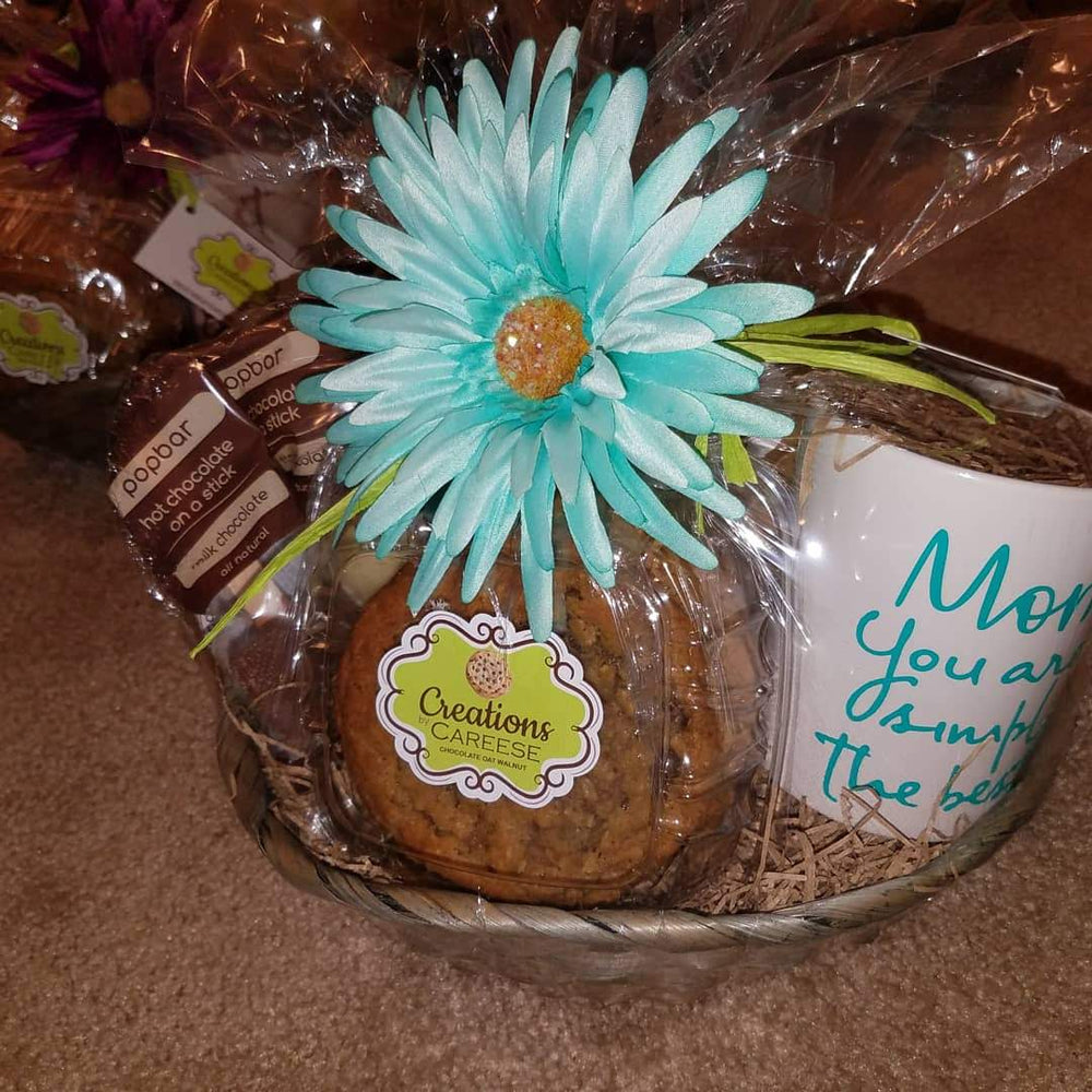 (Pick up only) Gourmet cookie basket w/ Starbucks Coffee, Organic teas, or hot chocolate variety