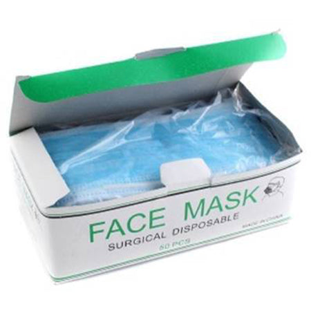 Disposable 3 Ply Face Mask (Single box, 50 ct)