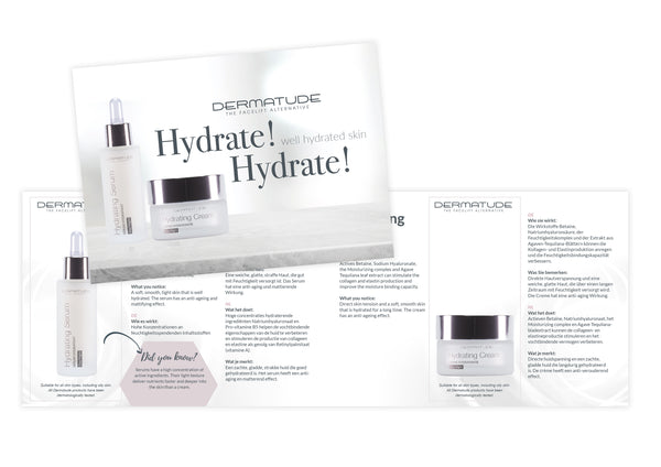 Dermatude Sample Card Hydrating (Qty 25)