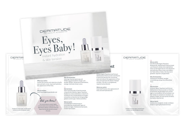 Dermatude Sample Card Eye Care (Qty 25)
