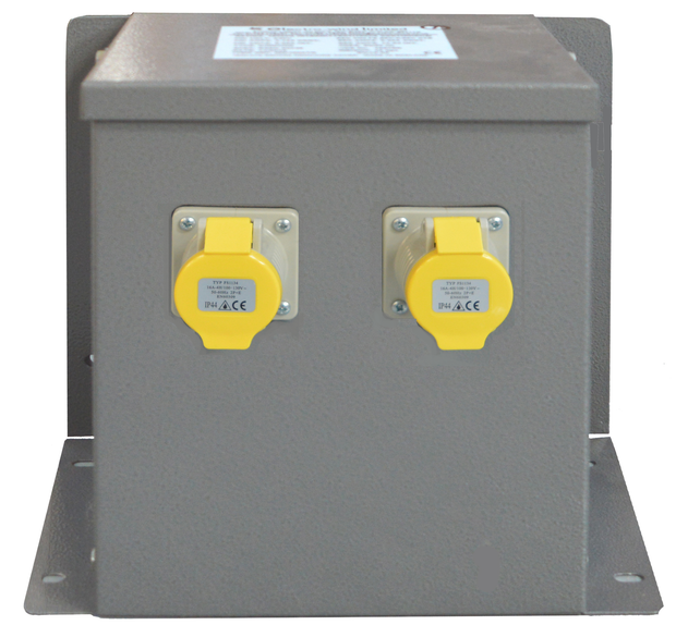 3.3kVA Wall/Floor Mounted Intermittent Transformer 2 x 16A Sockets - Product Code WM33002TR