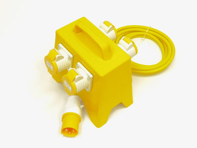 110V 4 Way Splitter/ Junction Box - Plastic - Product Code 4WJBC