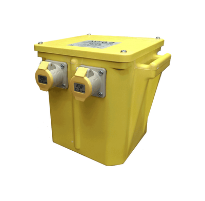 5kVA or 5000VA Intermittent Rated Portable Isolation Power Tool Transformer - Product Code P50/3