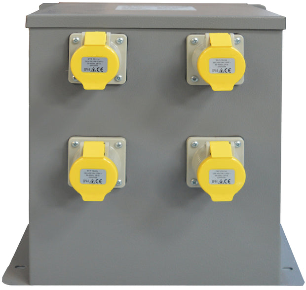 5kVA Wall/Floor Mounted Intermittent Transformer 4 x 16A 110V IP44 Sockets - Product Code WM50004TR