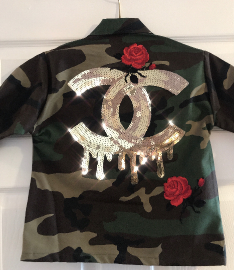 Kids Dripping C's Fatique Camo Jacket