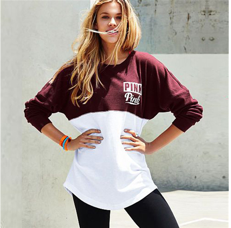 Autumn Fashion sweatshirts peach heart love letter