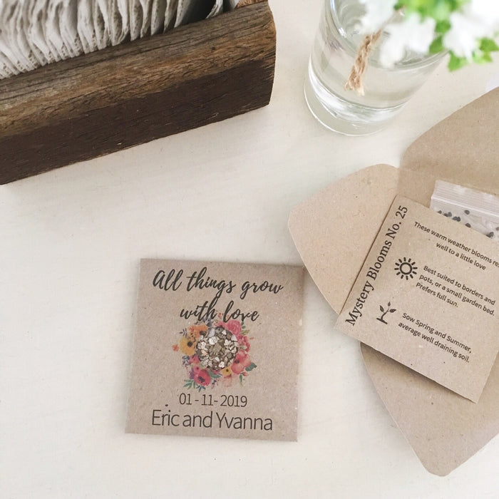A little bit about personalised seed packets from your next event…