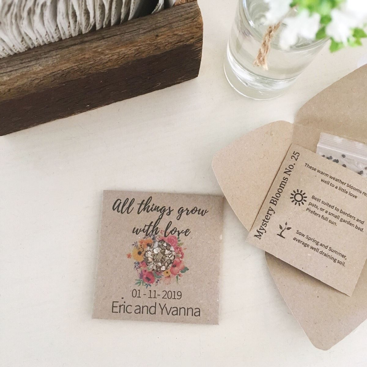 Eric and Yvanna Personalised seed favour