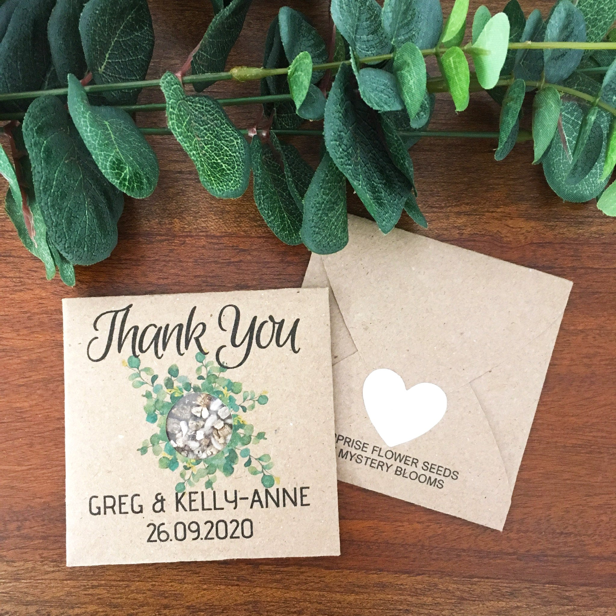Greg & Kelly-Anne Personalised seed favour