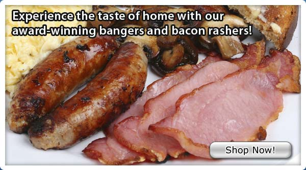 Grilled British Bangers & Back Bacon