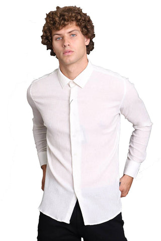 classic long-sleeved white shirt