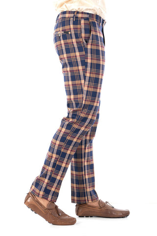Checkered Chino Pants for Men
