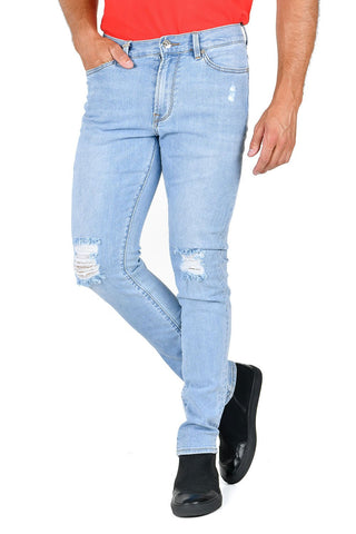 Blue Ripped Jeans for Men